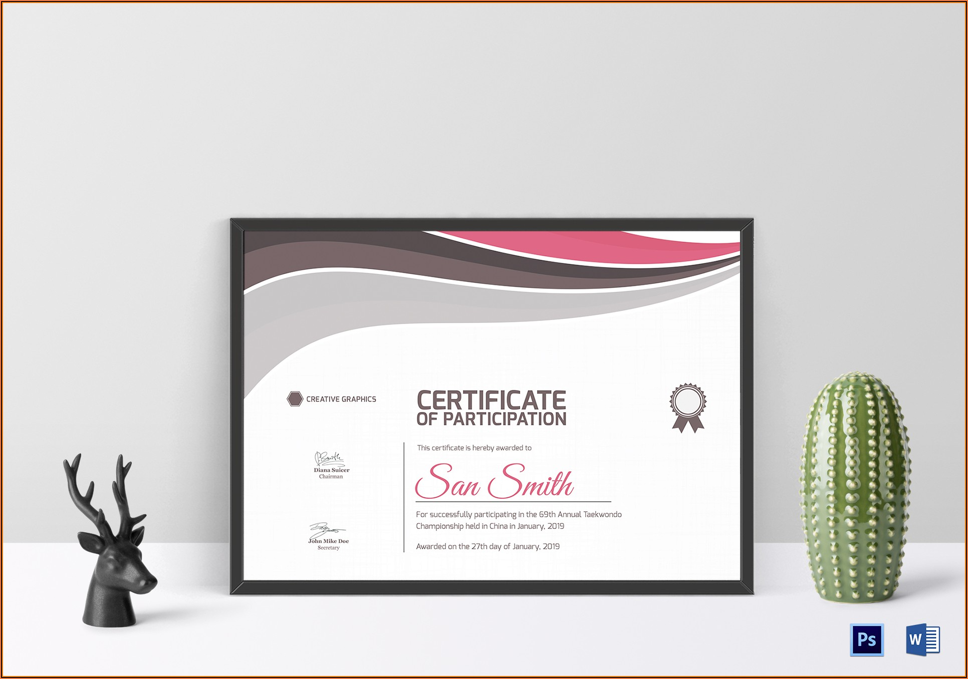 Martial Arts Certificate Templates Psd