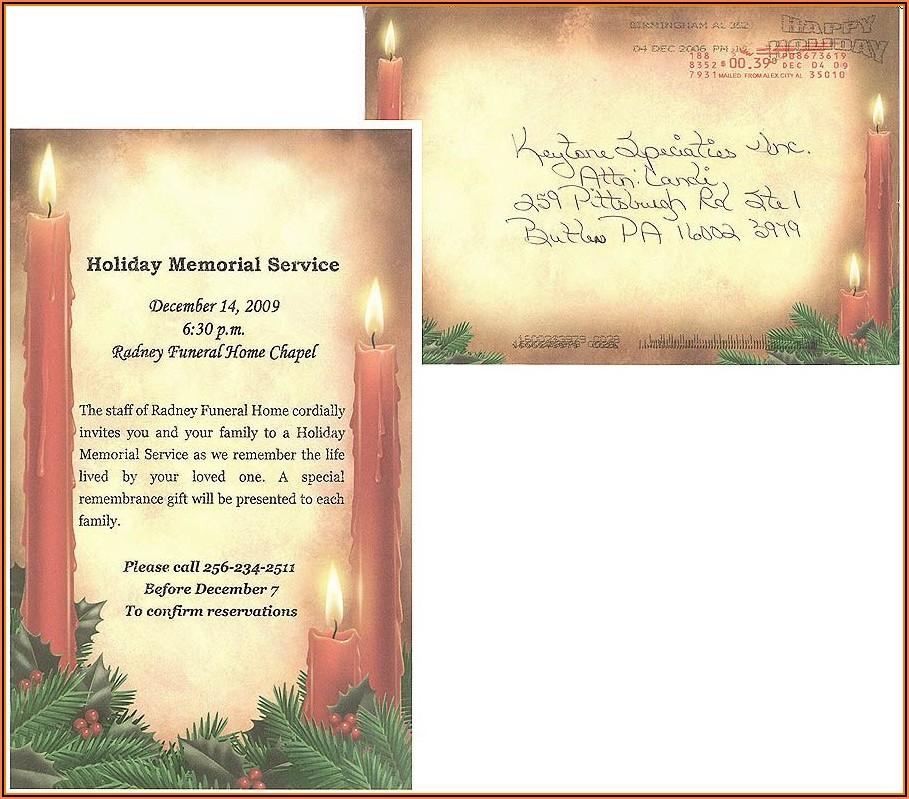 Memorial Service Announcement Sample