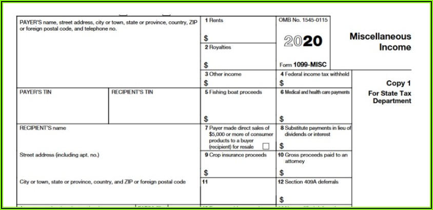 Misc 1099 Form 2020