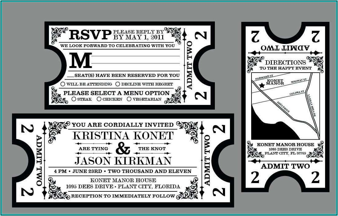 Movie Tickets Cards Templates