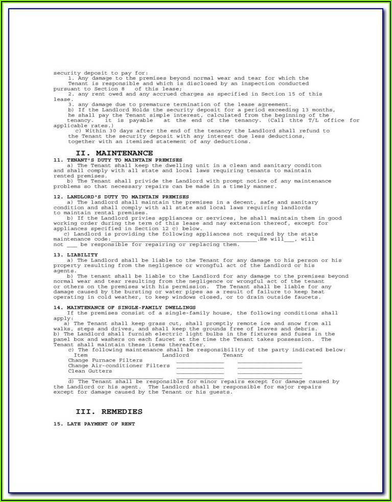 Northern Virginia Rental Application Form
