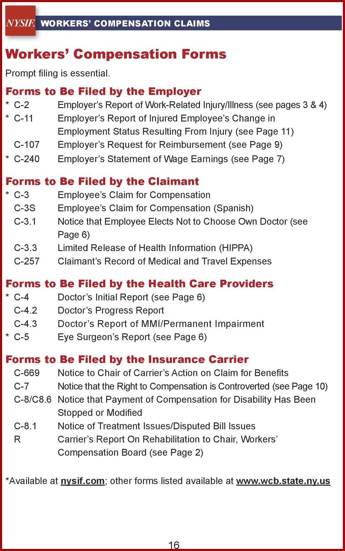 Nys Workers Compensation Mileage Reimbursement Form