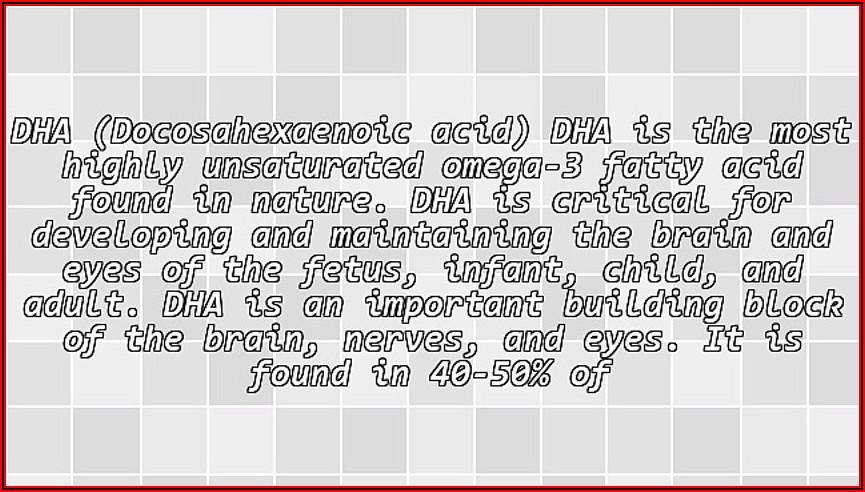 Omega 3 In Triglyceride Form