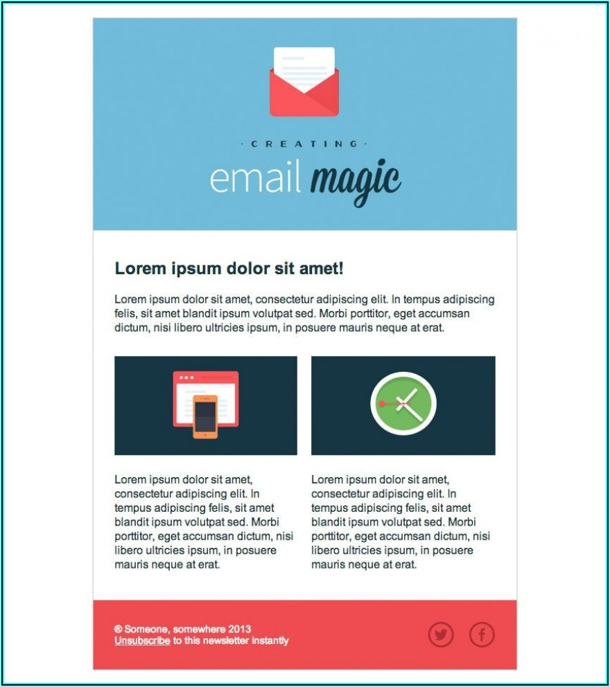 Outlook Html Email Template