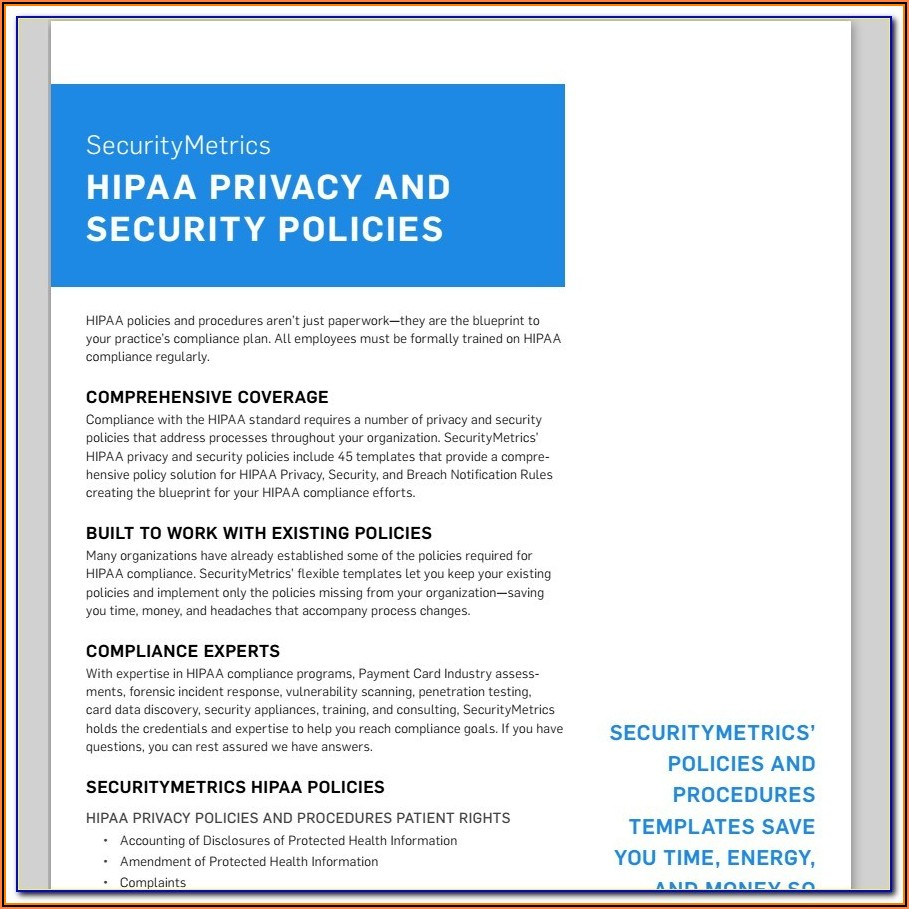 Pci Compliance Information Security Policy Template