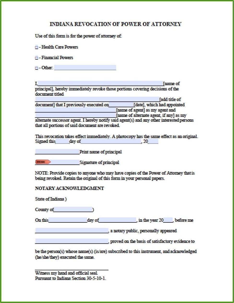 Poa Revocation Form