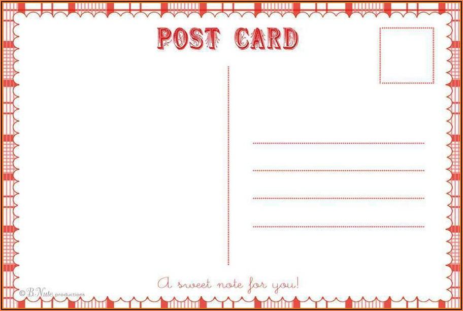 Postcard Calendar Template