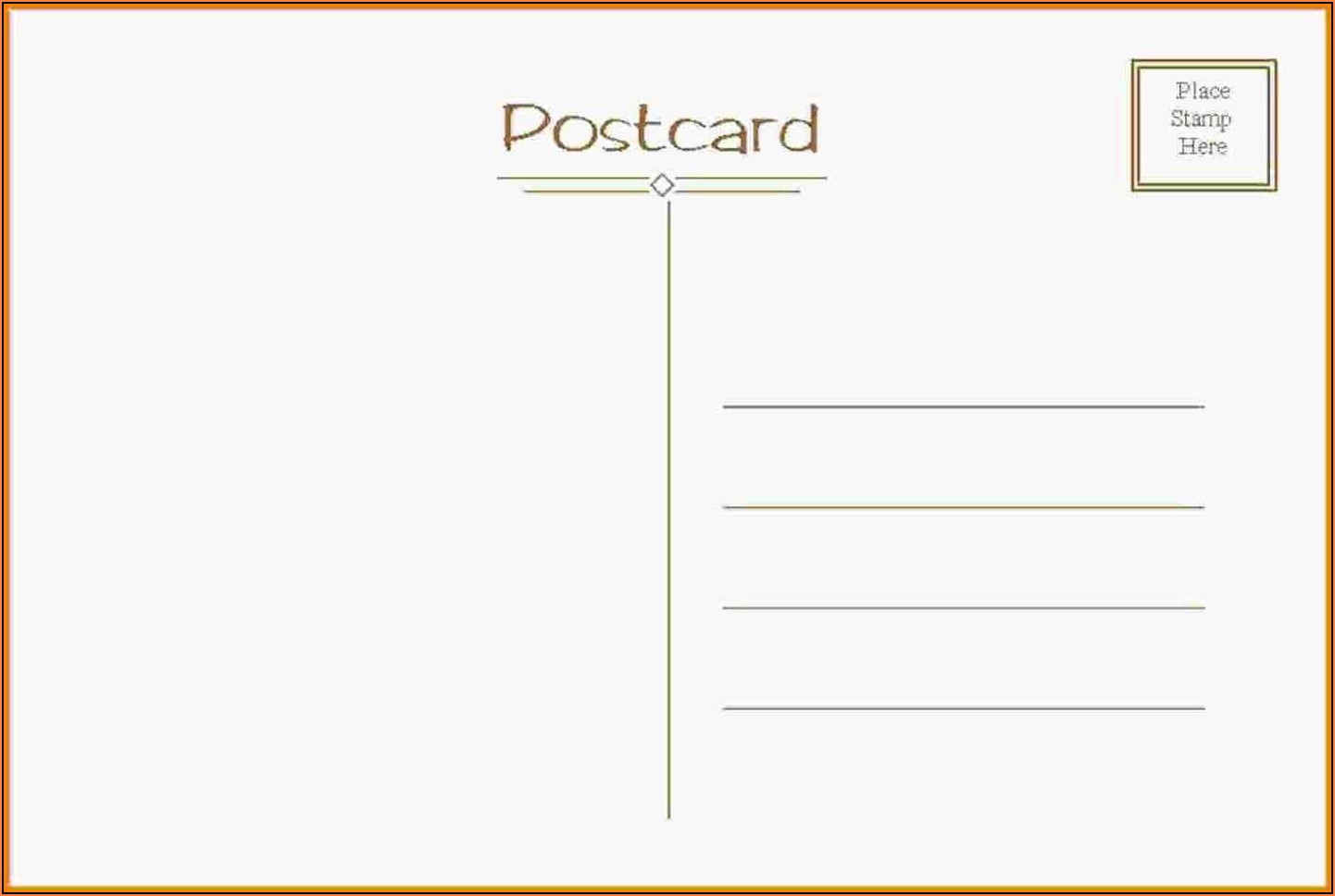 Postcards Template