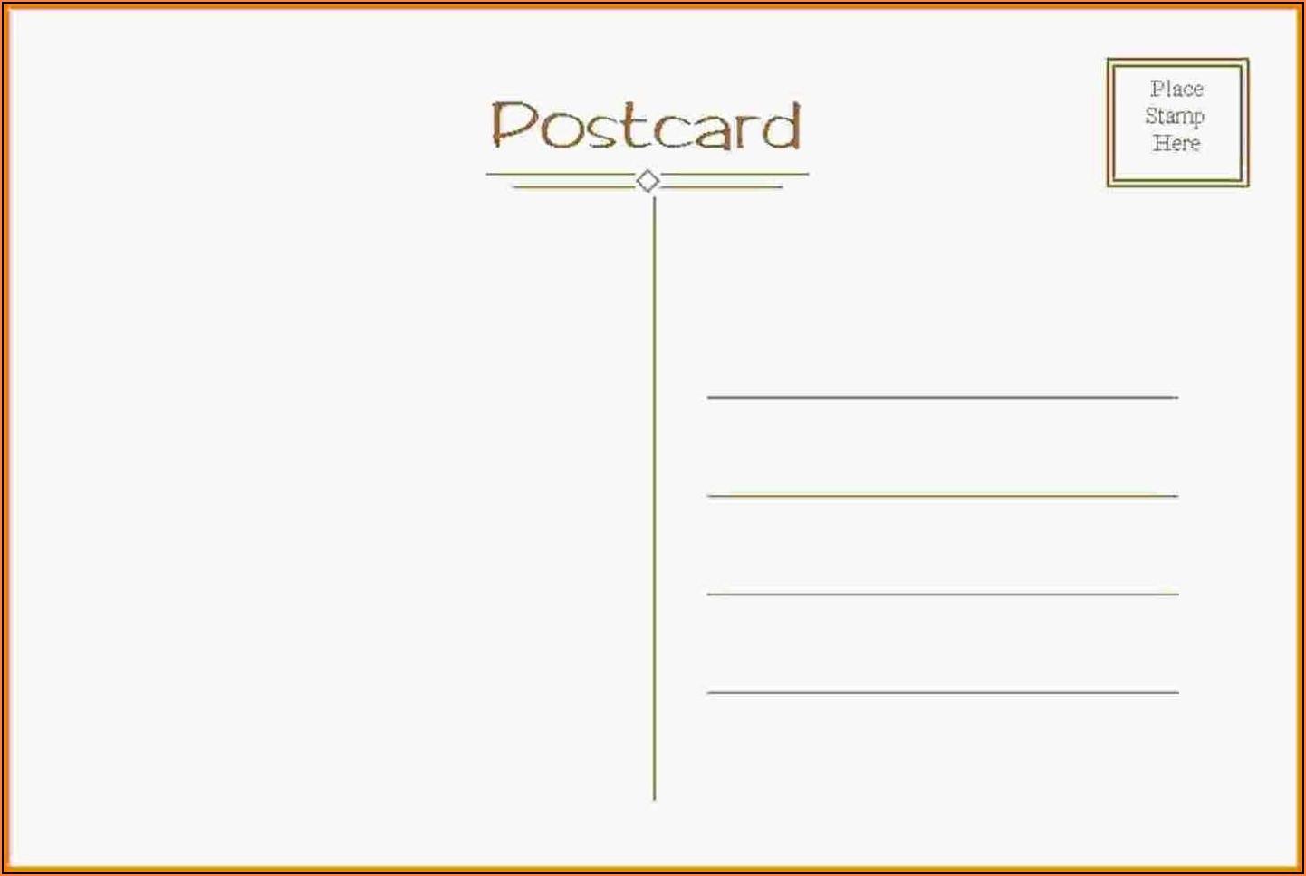 Postcards Template