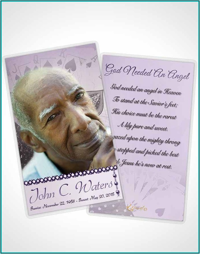Prayer Cards For Funerals Template