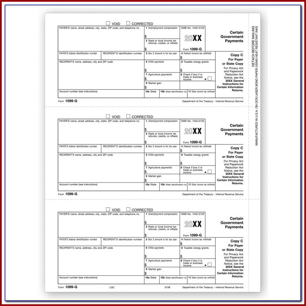 Pre Printed 1099 Forms For Quickbooks