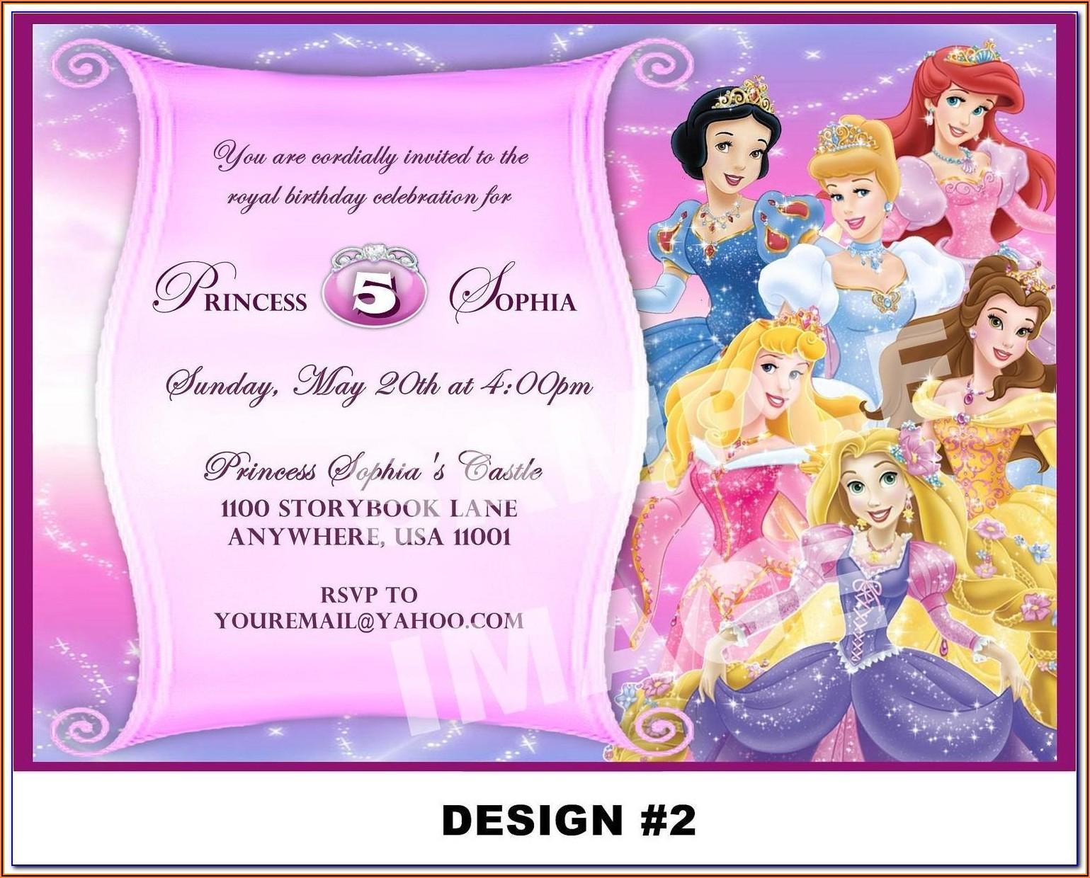 Princess Sofia Invitations Template Free