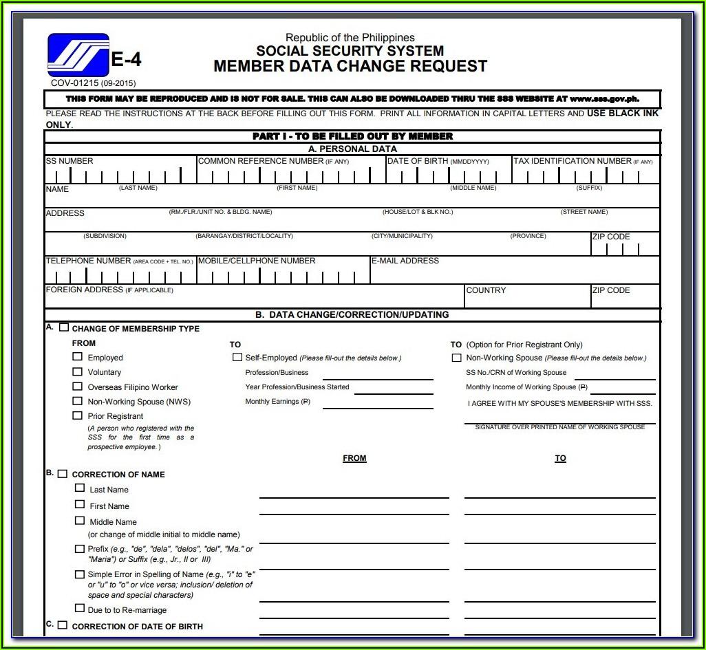 Printable Disability Application Form