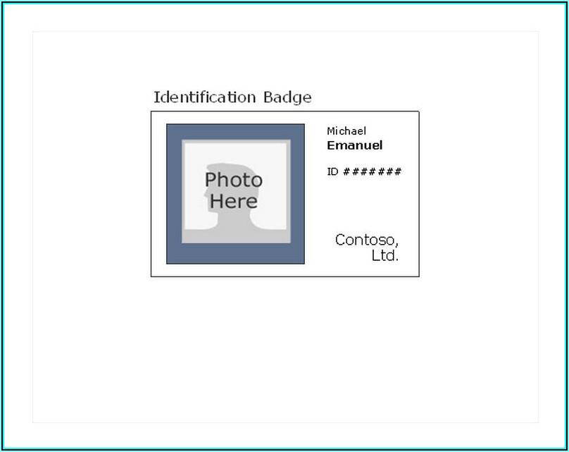 Printable Id Badge Template