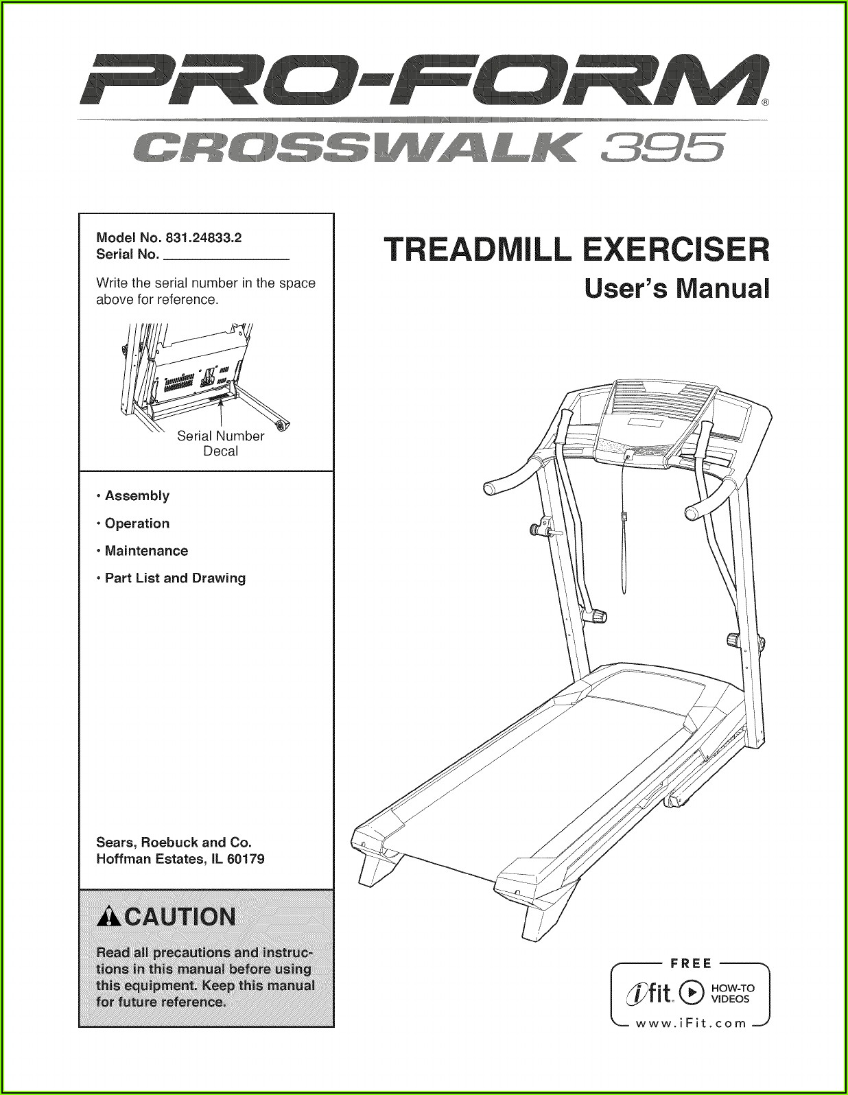 Proform Crosswalk 395 Treadmill