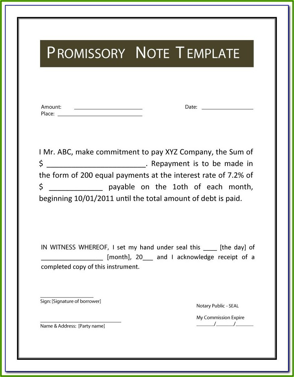 Promisorry Note Format In Philippines