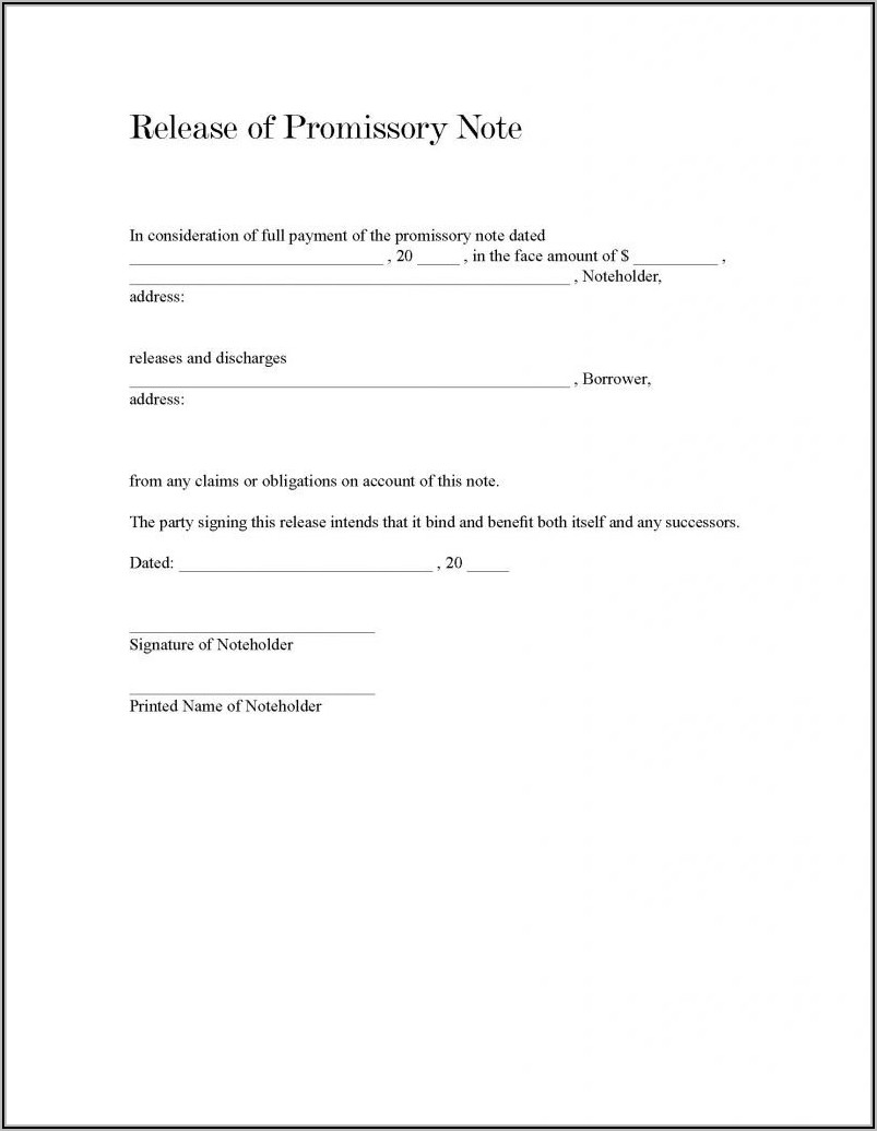 Promissory Note Form