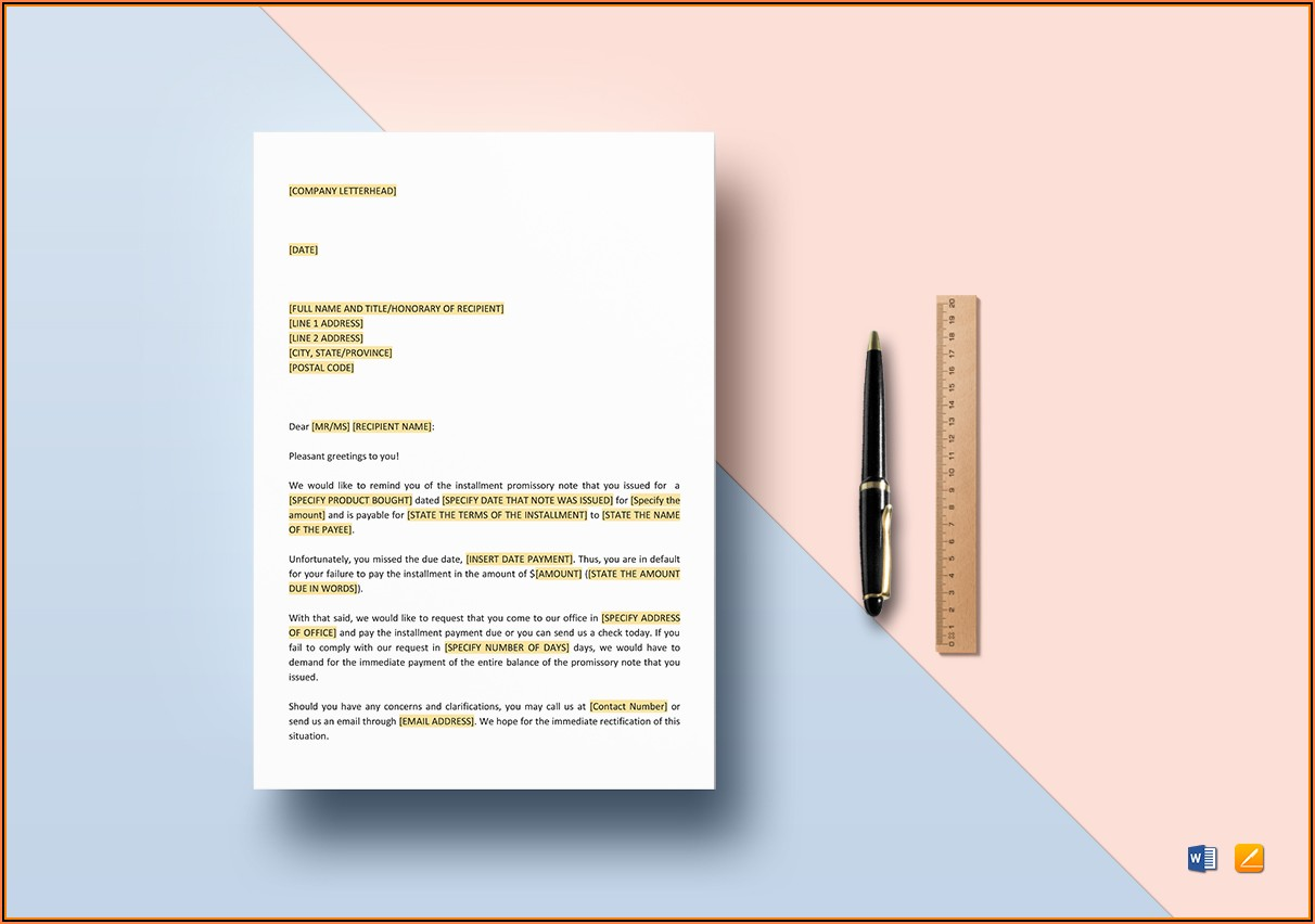 Promissory Note Template For Google Docs