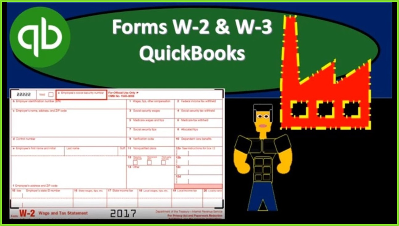 Quickbooks W 2 Forms 2019