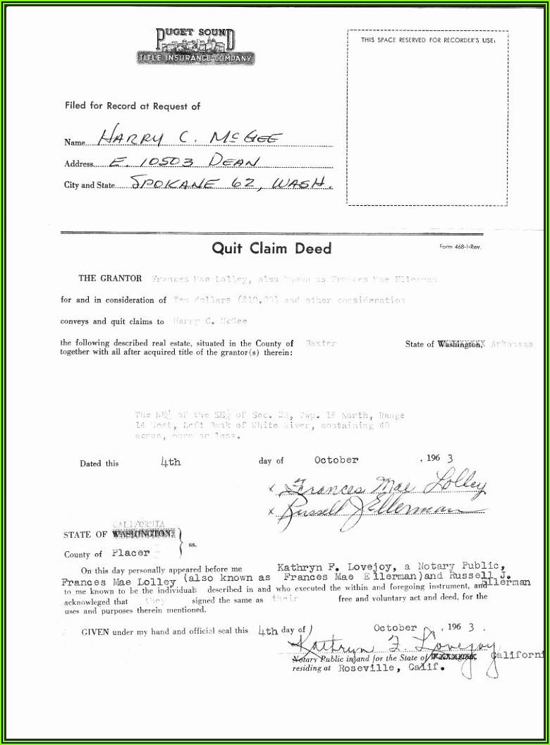 Quit Claim Deed Michigan Form Free