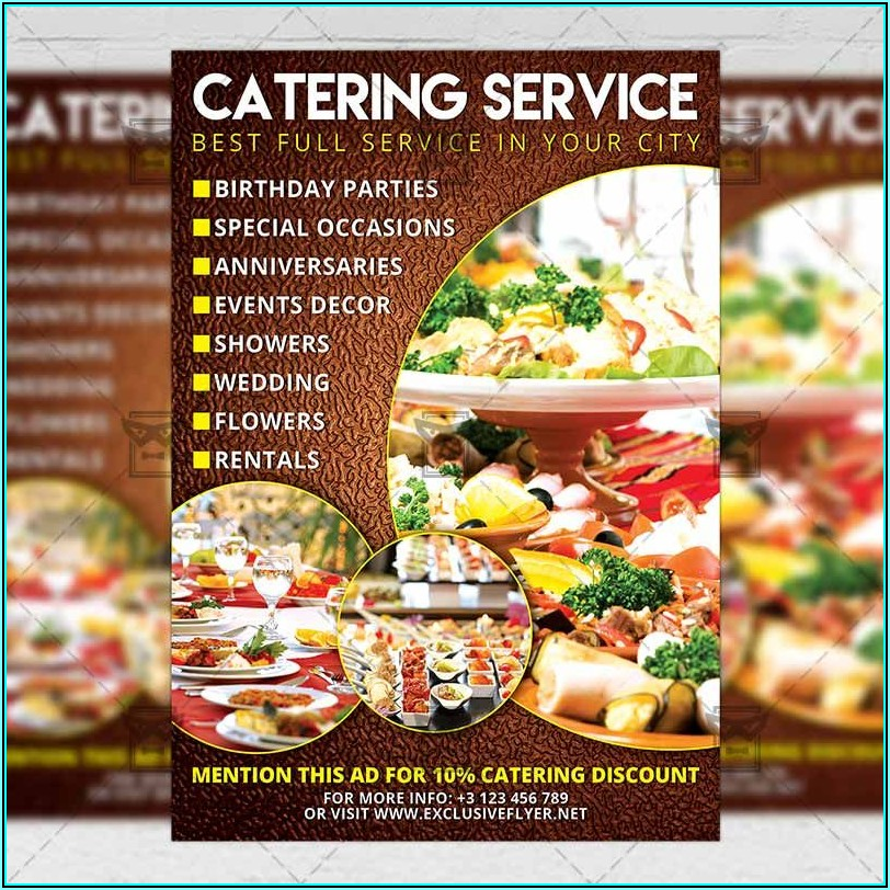 Sample Catering Flyer Templates