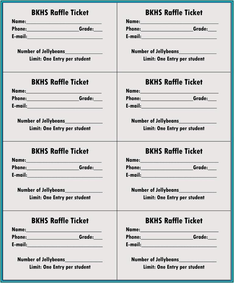 Sample Of Raffle Tickets Templates