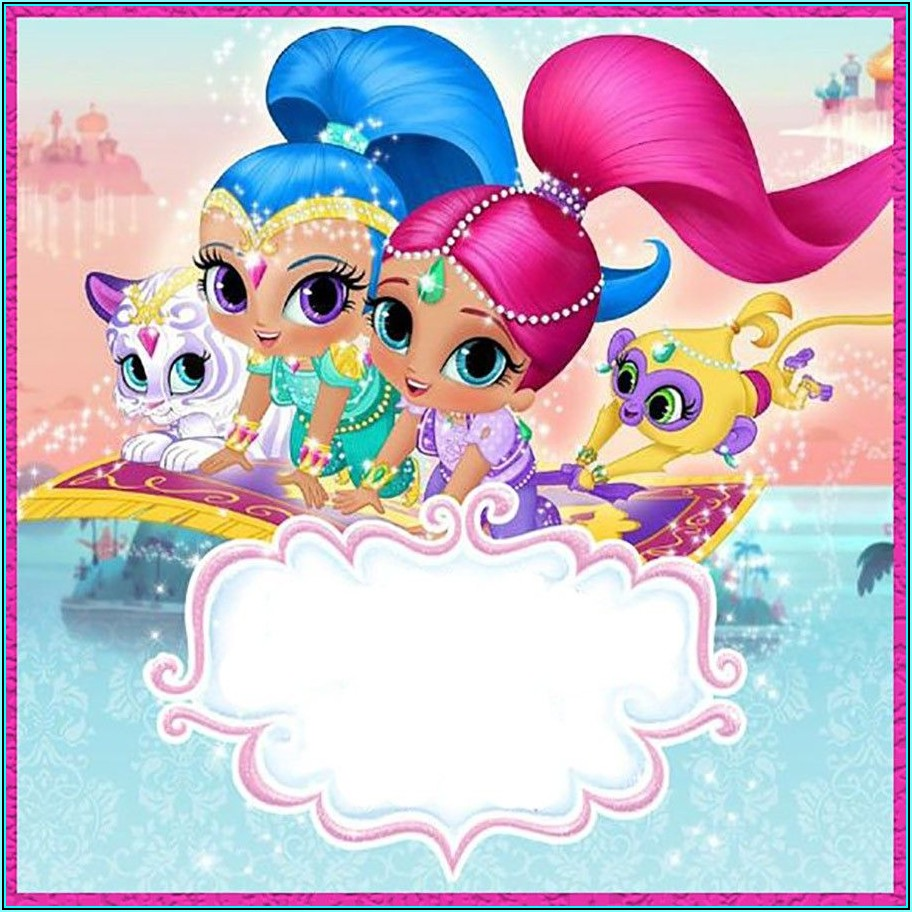 Shimmer And Shine Birthday Invitations Template