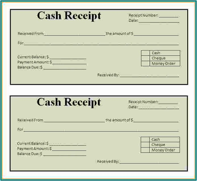 Simple Cash Receipt Forms