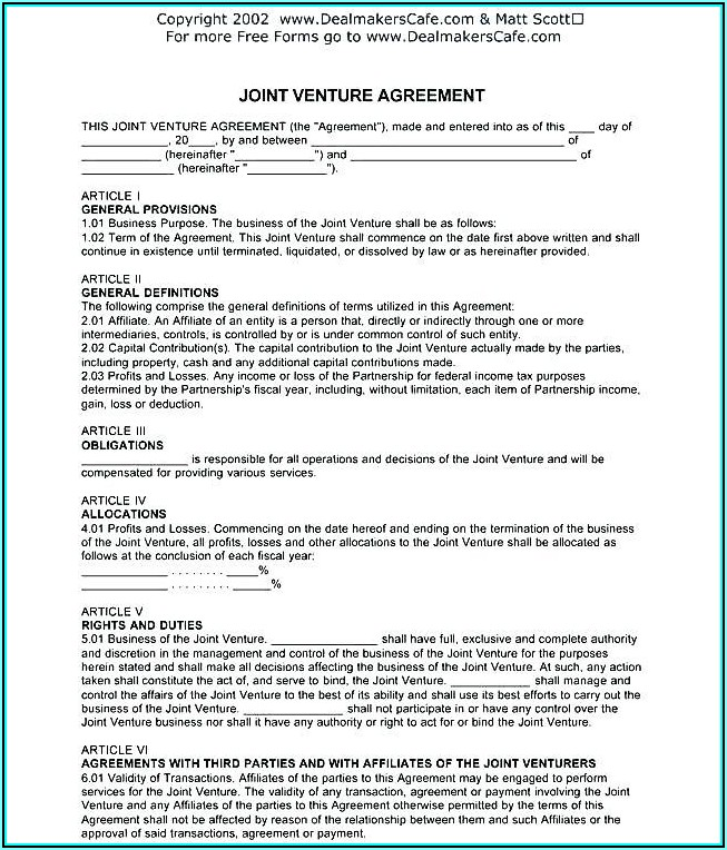 Simple Partnership Agreement Template Free Uk