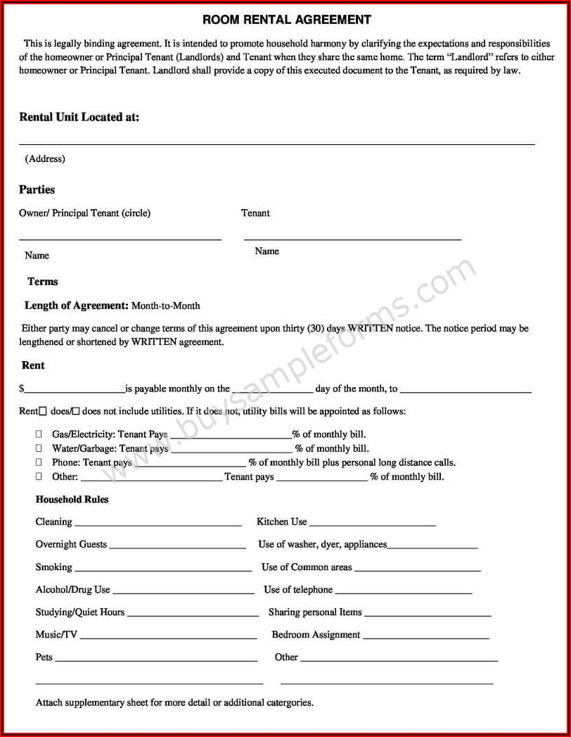 Simple Rental Form
