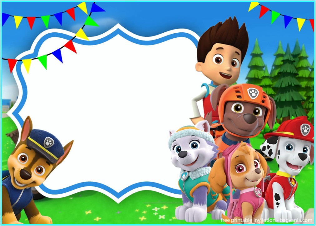 Skye Paw Patrol Birthday Invitation Template Free
