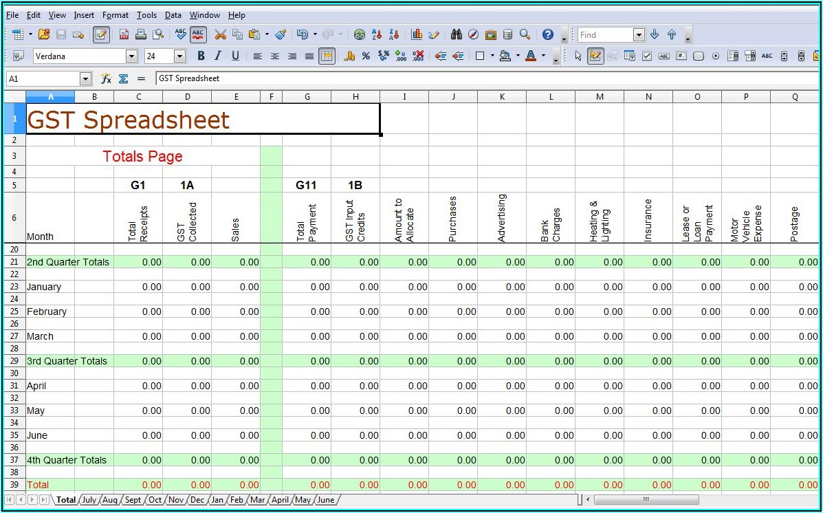 Small Business Accounting Template