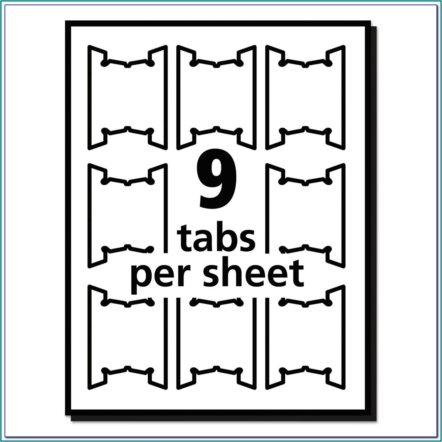 Smead Hanging File Folder Tab Template