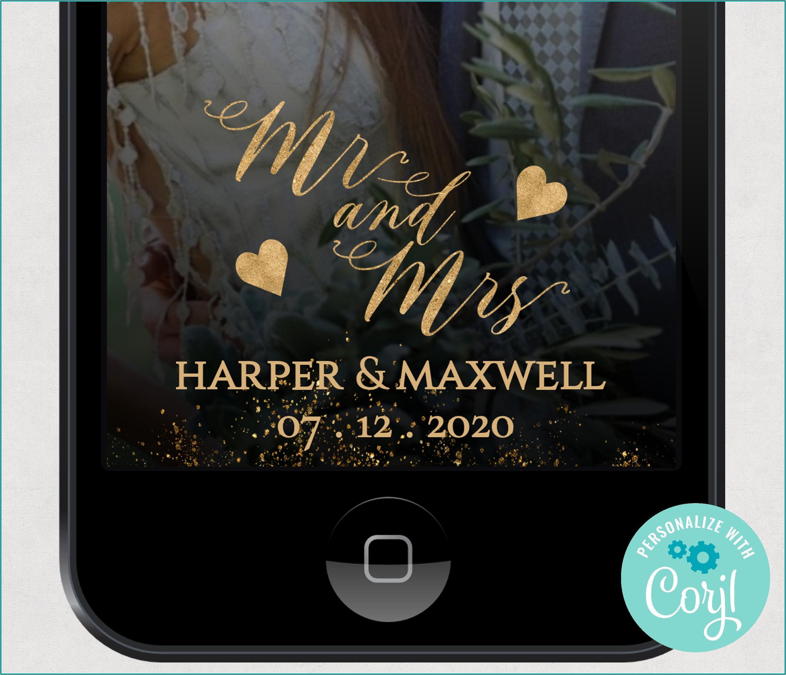 Snapchat Wedding Geofilter Template