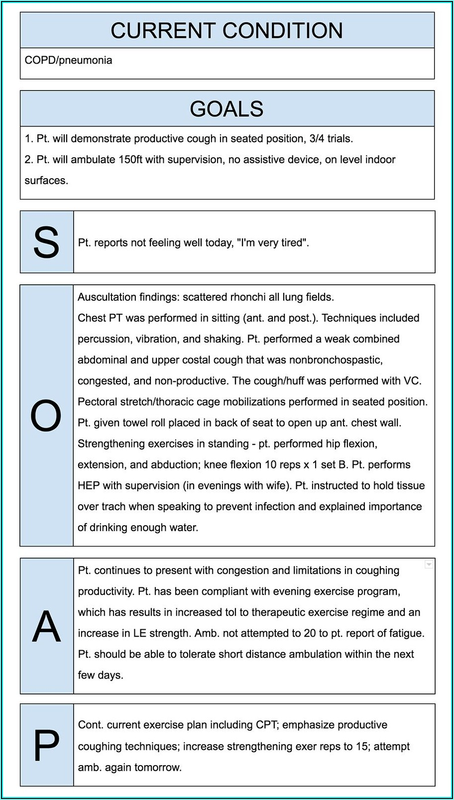 Soap Note Template Therapist
