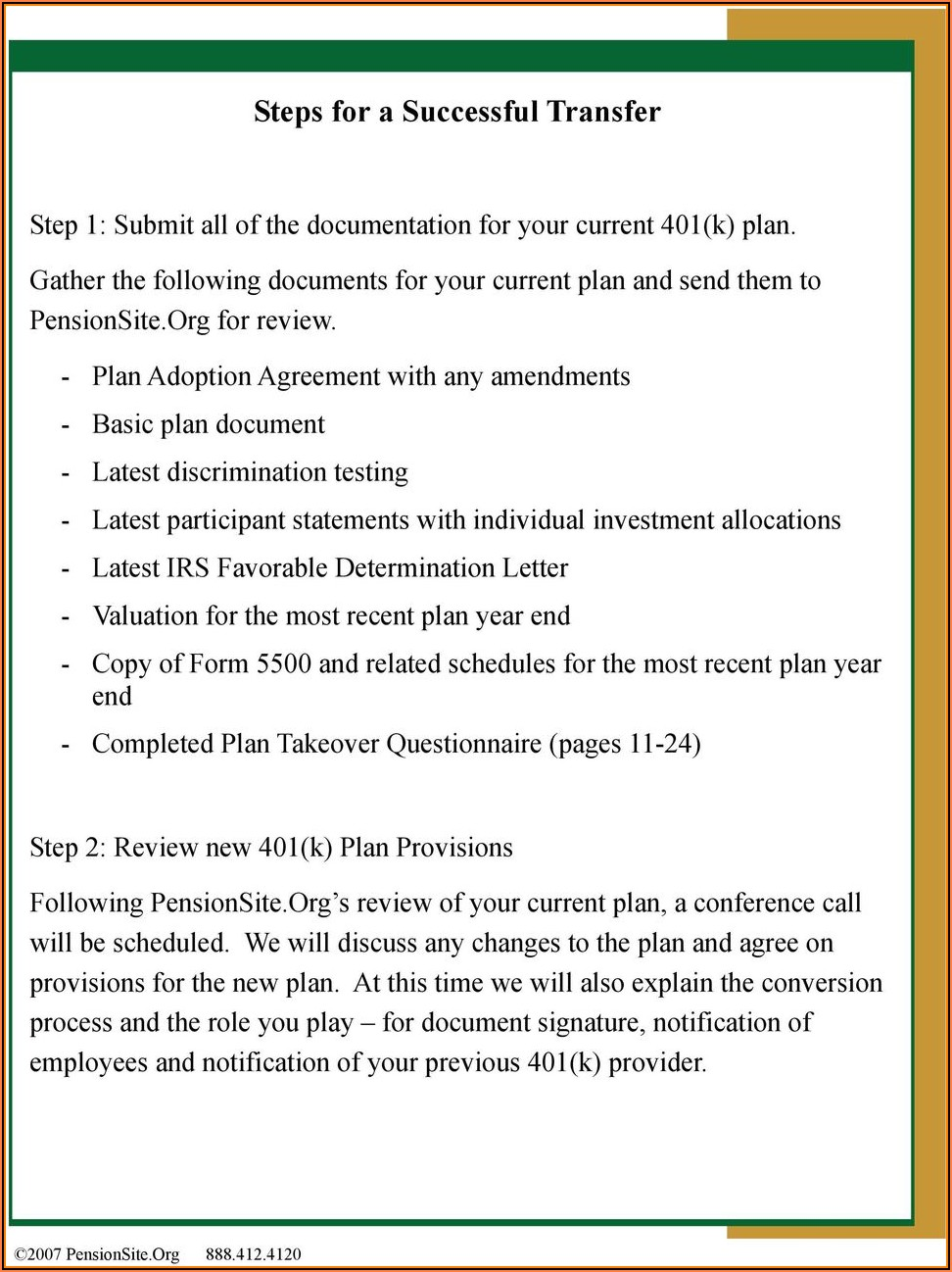 Solo 401 K Plan Document Template