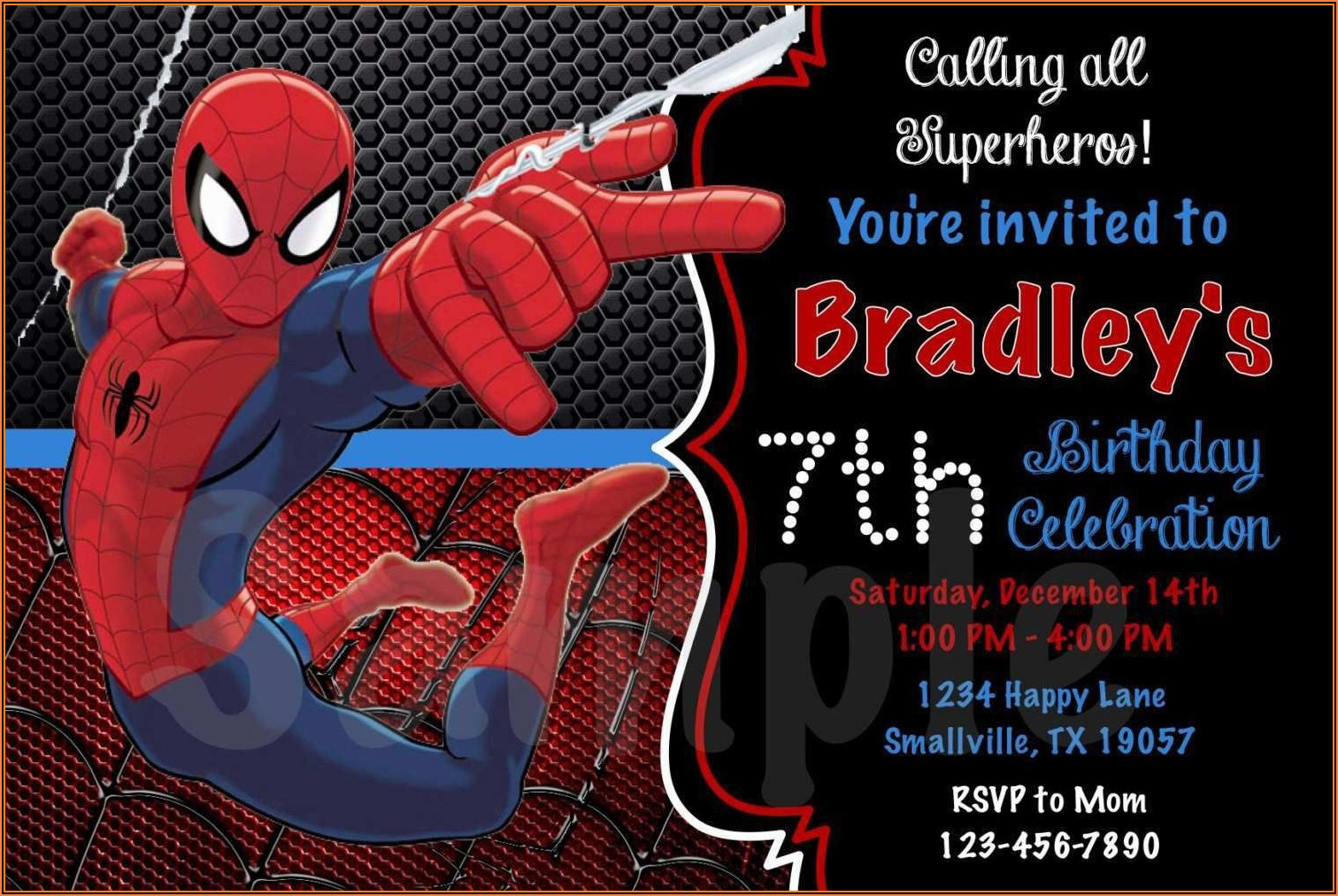 Spiderman Birthday Invitation Templates Free