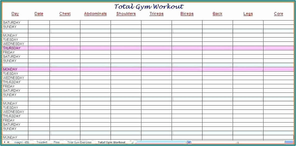 Staff Training Schedule Template Excel