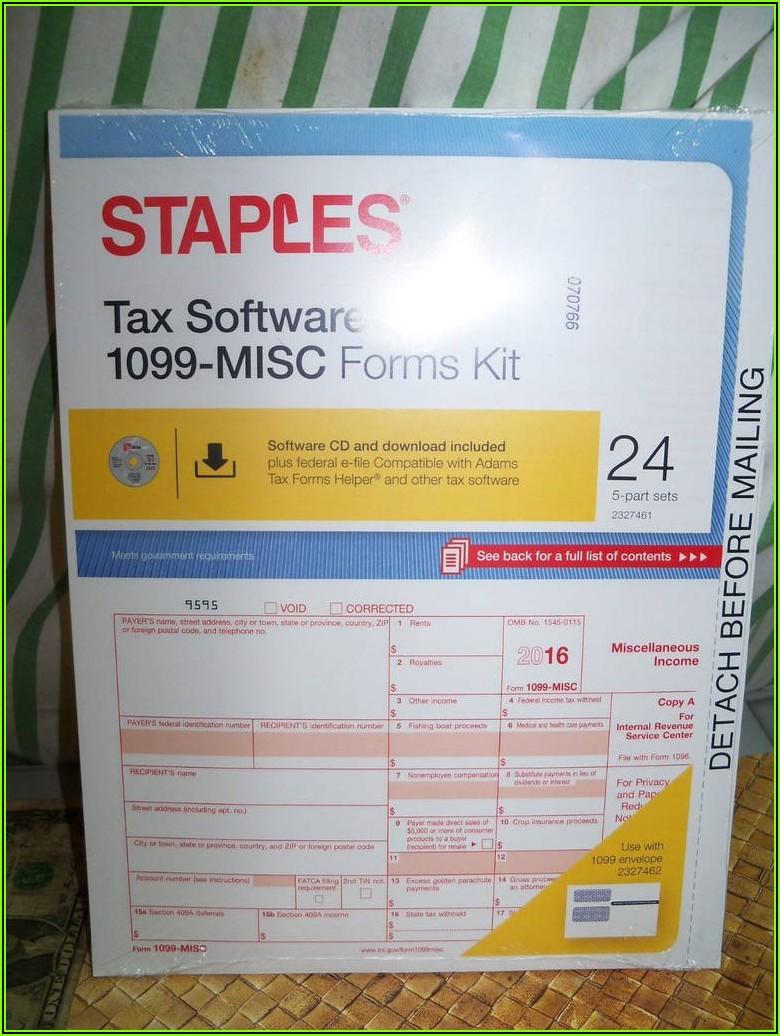 Staples Tax Forms Helper Software