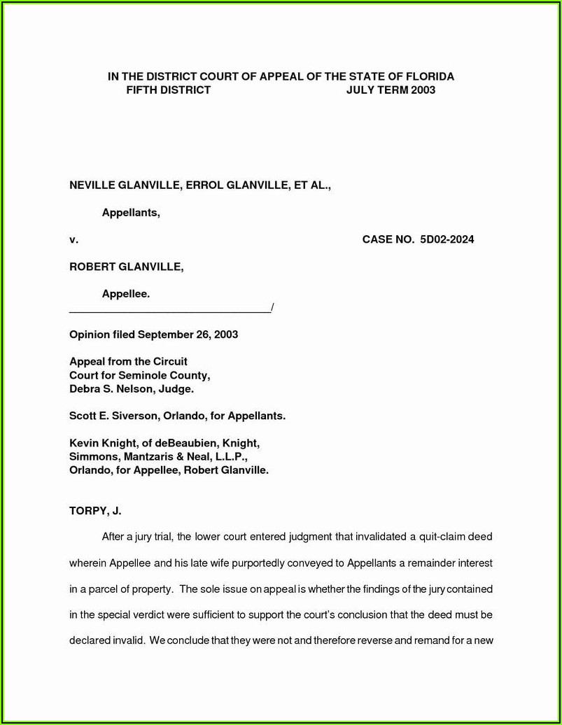 State Of Missouri Quit Claim Deed Form