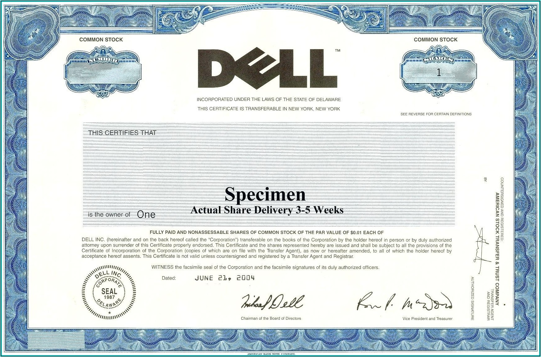 Stock Certificate Template Ms Word