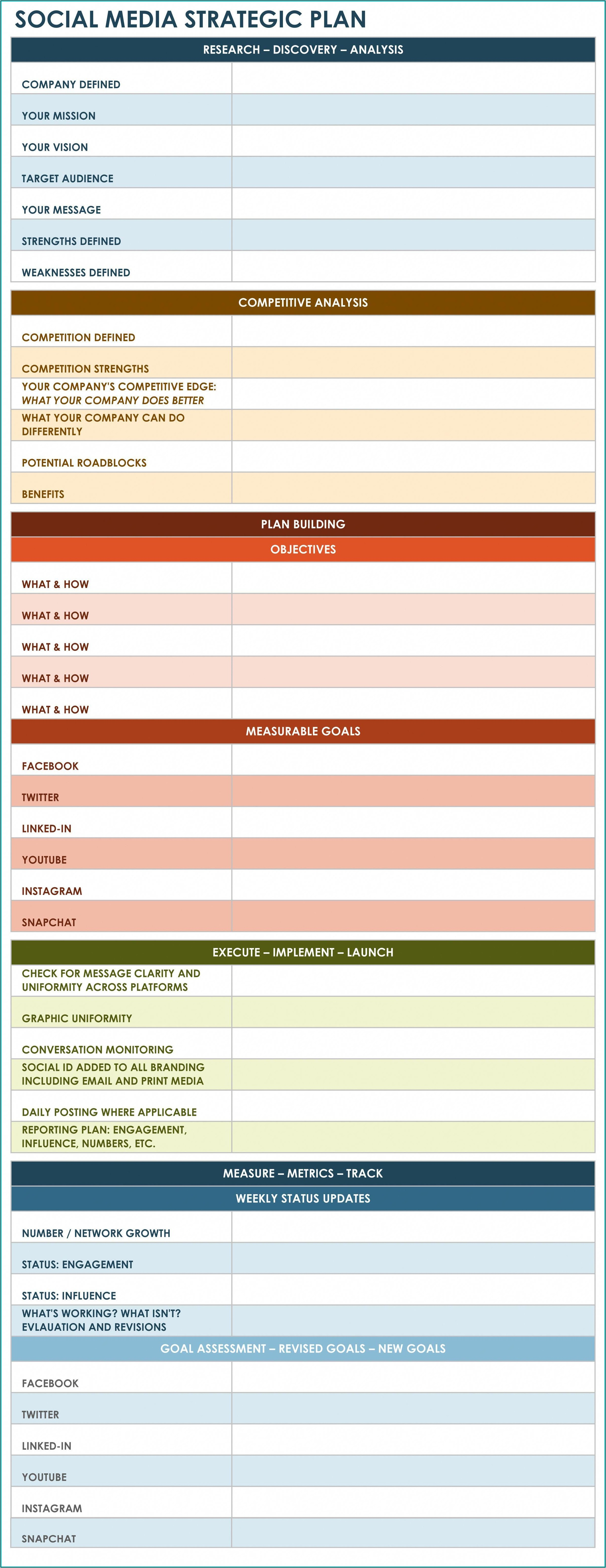 Strategic Communication Plan Template Excel