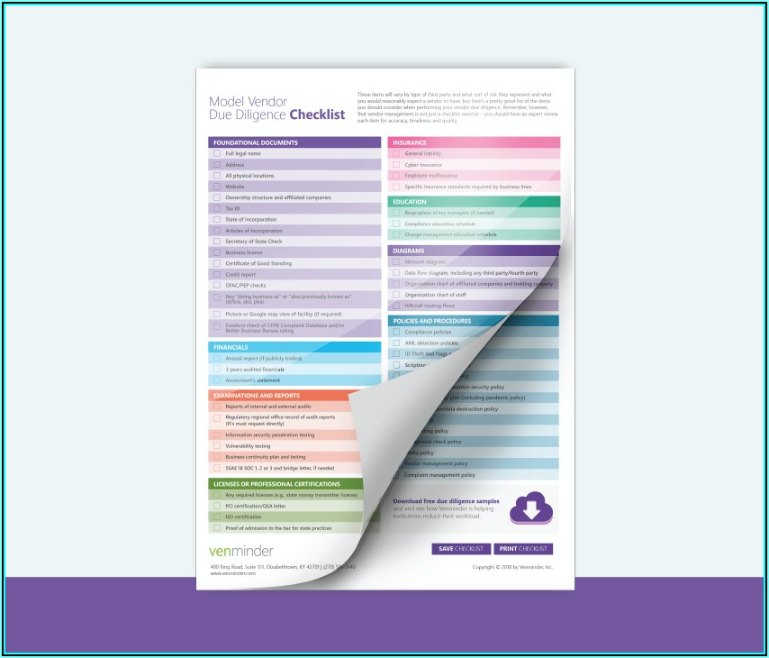 Supplier Due Diligence Checklist Template