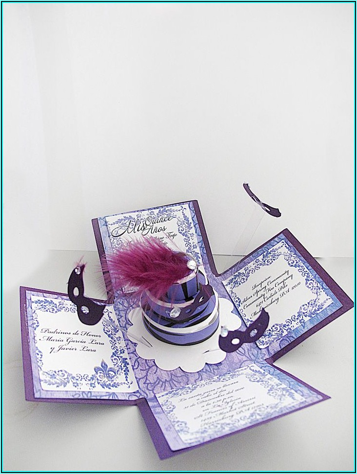 Sweet 16 Masquerade Invitation Template