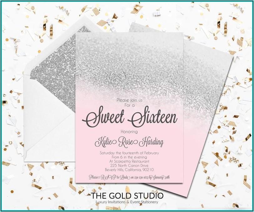 Sweet Sixteen Invitation Template