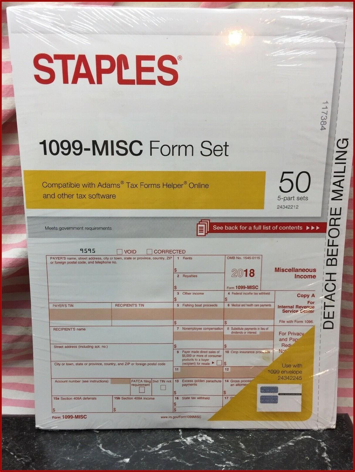 Tax Filing 1099 Form