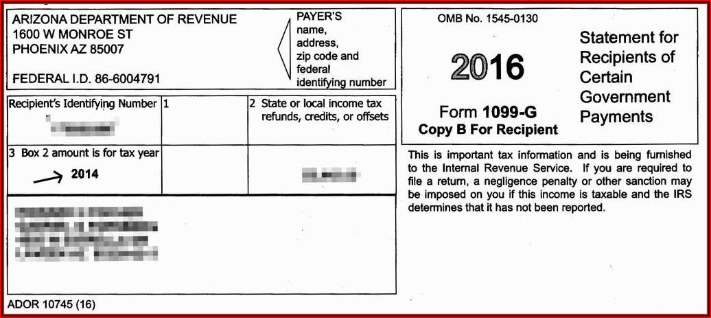 Tax Return 1099 Form