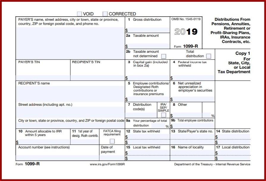 Tax Return Form 1099 R