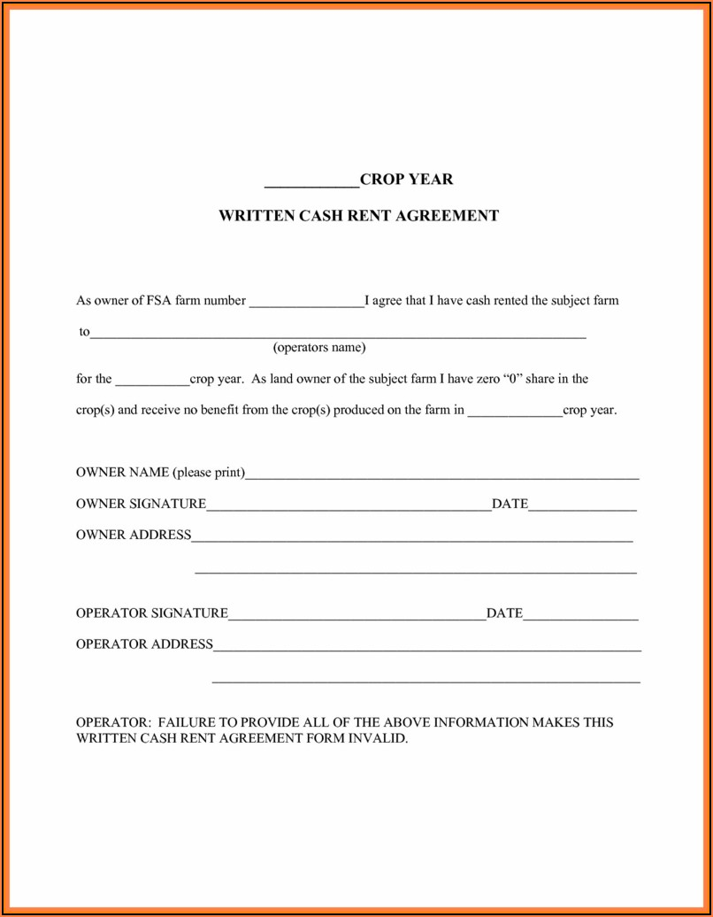 Texas Farm Lease Agreement Template