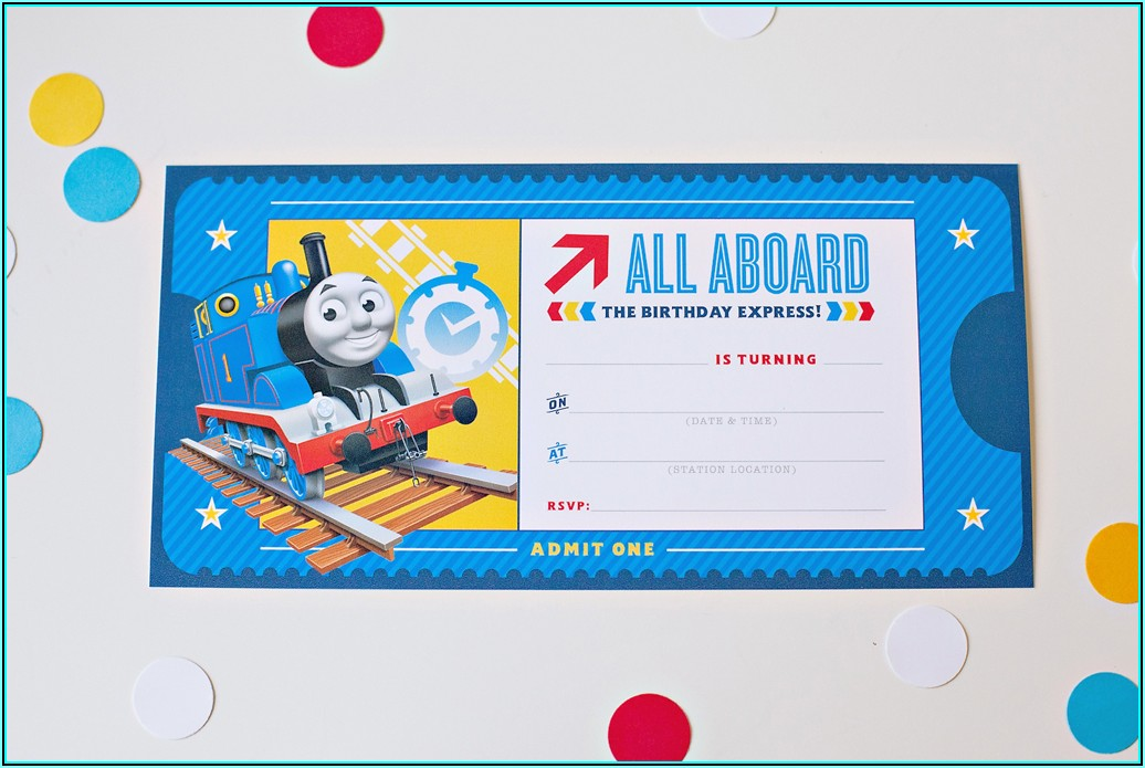 Thomas The Train Birthday Invitation Free Template